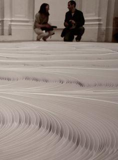 Daniele Papuli,Installation of 10,000 paper strips