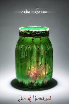 Jars of Marbleland Diy Candle Holders, Diy Candles, Amber, Diy Painting, Jars, Arts And Crafts, Colours, Cool Stuff, Green