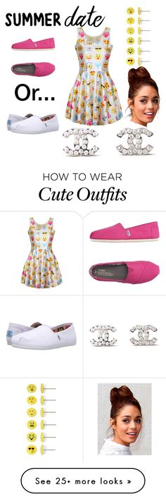 """""""Hip-Hop Date Outfit"""" by usherbae on Polyvore featuring Carole, TOMS, Chanel, summerdate and rooftopbar"""