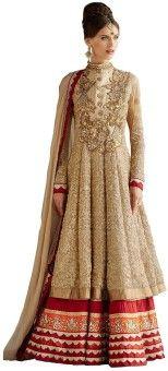 Monika Silk Mill Georgette Embroidered, Self Design Semi-stitched Salwar Suit Dupatta Material