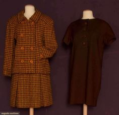 Augusta Auctions, November 2, 2011 NYC, Lot 75: Two Christian Dior Wool Dresses, 1957-1968