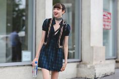 The Most Authentically Inspiring Street Style From New York #refinery29  http://www.refinery29.com/2015/09/93788/ny-fashion-week-spring-2016-street-style-pictures#slide-7  Totally pulling off a vintage-looking vest....