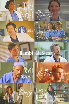 ➥ Nicknames | ↬ Grey's Anatomy ↫