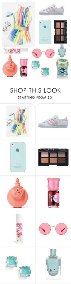 """Tie-dyeee"" by alwirth ❤ liked on Polyvore featuring adidas Originals, NARS Cosmetics, Valentino, Benefit, Blossom, Ray-Ban and Kate Spade"