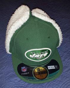 timeless design dec5b 6ad79 New Era 59Fifty New York JETS NFL Football Dog Ear Hat Cap 7 3 8