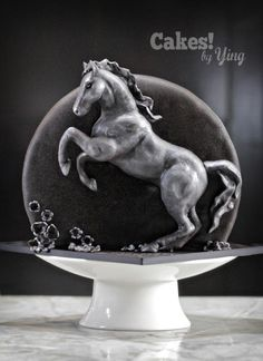 Silver Horse cake for Emma - Cake by Cakes! by Ying