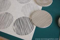 Making Friday: Block Printing mega version — Skinny laMinx Terri Stegmiller Art Quilts: More Stamp Making Stamp Printing, Printing On Fabric, Screen Printing, Clay Stamps, Fabric Painting, Fabric Art, Homemade Stamps, Impression Textile, Stamp Carving