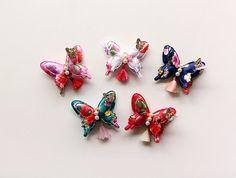 Hanbok Hair clip  butterfly pearl brooch  Korean by muzeday