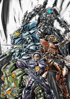 Godzilla, Pacific Rim Striker Eureka, King Kong, Pacific Rim Jaeger, Gipsy Danger, Gundam Wallpapers, Spaceship Design, Gundam Art, Movie Poster Art