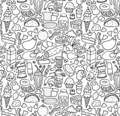 These are some personal doodle patterns that would be good for phone covers, material, wrapping paper etc. Doodle Coloring, Colouring Pages, Adult Coloring Pages, Coloring Sheets, Food Doodles, Cute Doodles, Doodle Patterns, Zentangle Patterns, Doodle Drawings