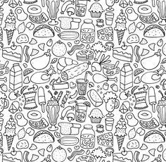 Doodle Patterns by Jake McDonald, via Behance