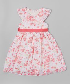 Look at this Laura Ashley London Pink & White Floral Yoke Dress - Infant, Toddler & Girls on #zulily today!