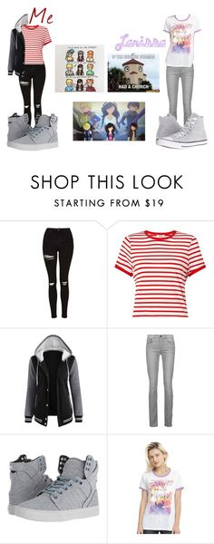 """""""Watching MCD with my Best Friend"""" by virusandglitches ❤ liked on Polyvore featuring Topshop, Miss Selfridge, Proenza Schouler, Supra, Disney and Converse"""