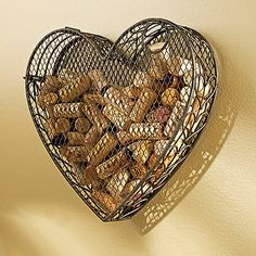 Capture hearts this Valentine's Day with one of our most popular products, the Heart Wine Cork Catcher Wine Cork Projects, Wine Cork Crafts, Bottle Cap Crafts, Wine Bistro, Wine Cork Holder, Wine Rack, Wine Decor, Wine And Beer, Cool Bars