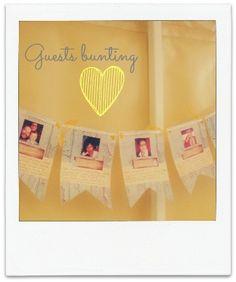 Guests bunting  #Handmade #DIY #Wedding Ideas