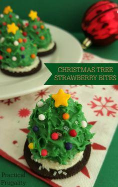 Christmas Tree Strawberry Bites