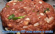 receita hamburguer fit com couve e aveia