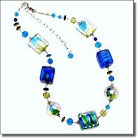 Marco Polo Designs-Aqua Verde Extravagant Necklace
