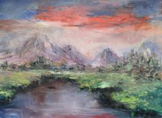 "Saatchi Art Artist Natalia Esanu; Painting, ""at the foot of the mountains"" #art"