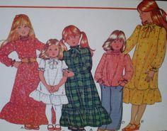 Vintage anni ' 70 McCalls ragazze Dress e di VINTAGEShopsDelight