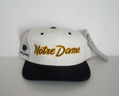 26b4d537c1c Sports Specialties Notre Dame White Dome PRO Snapback (Vintage NWT)