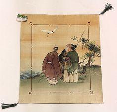 Japanese silk fukusa (gift wrapping textile), 19th/20th century, originally from Hayashi Kimono Co. in Ginza, Tokyo, Japan