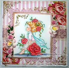 """""""Rosetta"""" designed by Sylvia Zet  © Wee Stamps for Whimsy Stamps"""