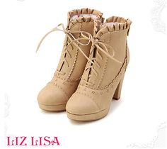 [Japan] genuine counter purchasing LIZ LISA Japanese sweet bow flouncing short boots - Taobao