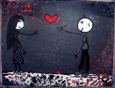Nadii B. Xx' - ''True Love'' Mai/'11 - mit Acryl auf Malpappe von 15 x 20 cm. || Im Besitz von einem Freund!