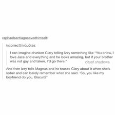 Alec and Jace is everyone's type Alec And Jace, Clary And Jace, Clary Fray, Immortal Instruments, Mortal Instruments Books, Shadowhunters The Mortal Instruments, Cassandra Clare Books, Cassandra Jean, Jace Lightwood