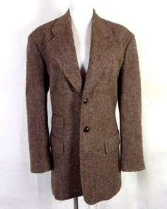 1606ce6852 vtg 80s Polo Ralph Lauren euc Women s Brown Heavy Wool Tweed Blazer ticket  8 Tweed Blazer