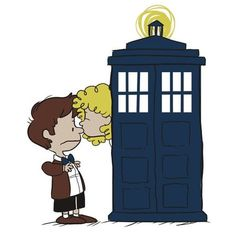Doctor and River, Peanuts style!