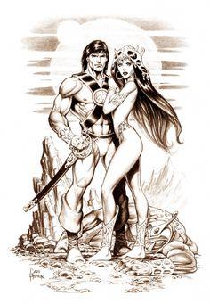 John Carter and Dejah Thoris