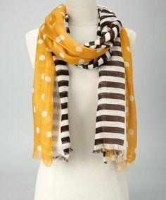 A & R Cashmere Dandelion Polka Dot & Stripe