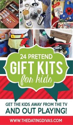 Pretend Gifts Kits for kids - Diy Gifts Homemade Christmas, Diy Christmas Gifts, Xmas, Christmas Ideas, Diy Gifts For Kids, Childrens Gifts, Grandparent Gifts, Kits For Kids, Creative Gifts