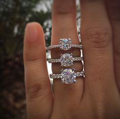 solitaire diamond engagement rings (Tacori)