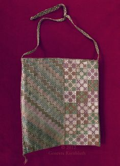 Purse, silk embroidered on linen, France 13th c., Sens CT; from http://www.kornbluthphoto.com/images/SensPurse104.jpg