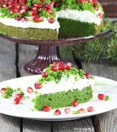 Ciasto leśny mech