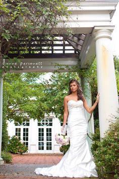 Bridal photos at Daniel Stowe Botanical Garden, by Dianne Personett Photography