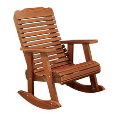 Amish Contoured Patio Rocking Chair