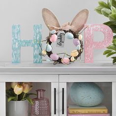 This Hippity Hop Tabletop Word Runner features a playful design and cute colors that will fit into any Easter display! You'll love showing it off on a table or mantel. Easter Art, Easter Ideas, Easter Bunny, Happy Easter, Easter Crafts For Adults, Easter Eggs, Diy Easter Decorations, Decorating For Easter, Easter Centerpiece