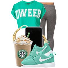 . by ray-royals on Polyvore featuring Topshop, Forever 21 and NIKE