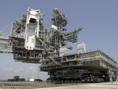 Nasa Crawler Transporter |  The Mobile Launcher Platform Is Being Moved Via the Crawler-Transporter Underneath
