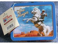 Collectible School Days 1950s Tin Lone Ranger Lunch Box by Hallmark.  Numbered Edition  Certificate of Authenticity included $39 on GoAntiques