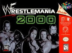 WWF Wrestlemania 2000 - WWF Wrestlemania 2000 is THQ's first WWF licenced game after making two previous WCW titles. Wrestlemania picks up where WCW/NWO Revenge left off. The graphics are by far superior as well is the animation. Wrestlemania a Wrestling Games, Wrestling Posters, Wrestling Videos, Nintendo 64 Games, Nintendo N64, Nintendo Switch, Classic Video Games, Retro Video Games, Cartoon Network