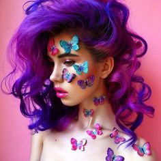 look 1 .pretty girly katy perry ish look copy this idea of colour background and  covered in flowers and butterflies