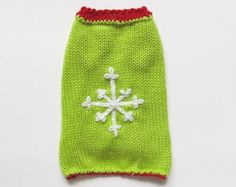 Christmas dog clothing Christmas dog clothes Christmas dog sweater snowflake dog small medium large green dog sweater xxxs xxs xs s m l xl