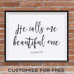Song Of Solomon 2:10, He Calls Me Beautiful One, Choose Your Colors ·  Nursery Bible VersesBeautiful OneNurseries BabyBaby ...