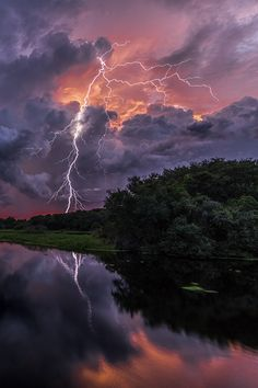 """ Myakka Sunset - By: Justin Battles """