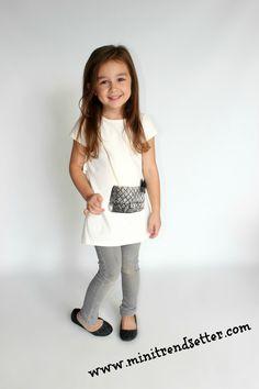 """The """"Mila"""" top.  www.minitrendsett... trendy kids, fashion kids, trendy toddler, toddler fashion chanel kids"""